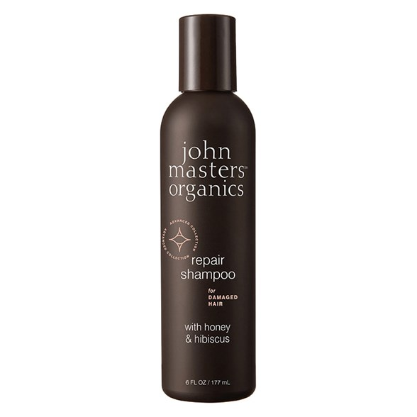 John Masters Organics Repair Shampoo for Damaged Hair with Honey & Hibiscus, 177 ml