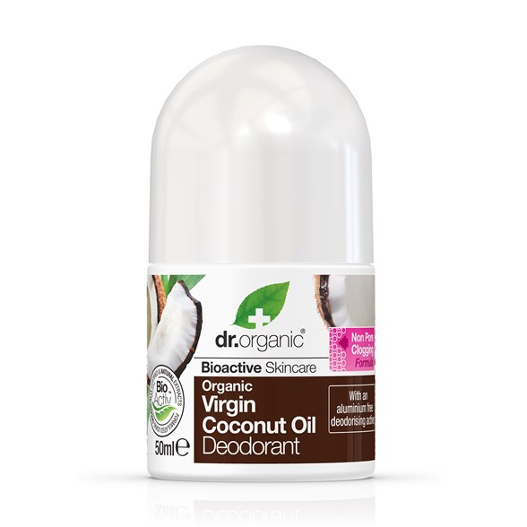 Dr. Organic Virgin Coconut Oil Deodorant, 50 ml