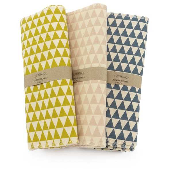 Hildebrandt Sustainable Living Unpaper Towels Patterned - Large, 5-pack