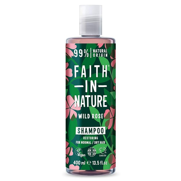 Faith in Nature Wild Rose Shampoo, 400 ml
