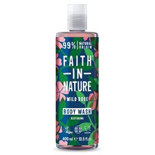 Faith in Nature Wild Rose Body Wash, 400 ml