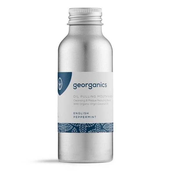 Georganics Naturlig Munskölj English Peppermint, 100 ml