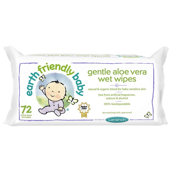 Earth Friendly Baby Gentle Aloe Vera Wet Wipes, 72 st
