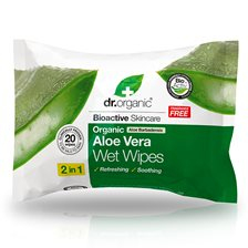 Dr. Organic Aloe Vera Wet Wipes, 20 st