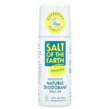Salt of the Earth Unscented Natural Roll-On Deodorant, 75 ml