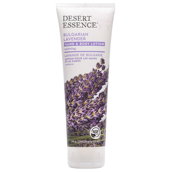 Desert Essence Bulgarian Lavender Hand & Body Lotion, 237 ml
