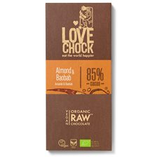 Lovechock Raw Chocolate Almond & Baobab, 70 g