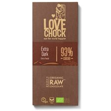 Lovechock Raw Chocolate Extra Dark 93%, 70 g