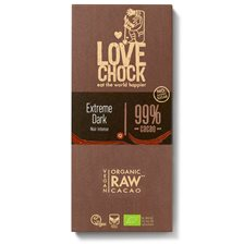 Lovechock Raw Chocolate Extreme Dark 99%, 70 g