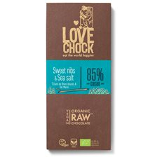 Lovechock Raw Chocolate Sweet Nibs & Sea Salt, 70 g