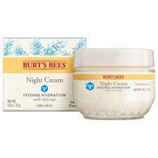 Burt's Bees Intense Hydration Night Cream with Clary Sage, 51 g