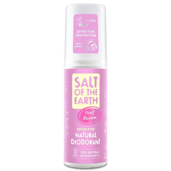 Salt of the Earth Peony Blossom Natural Deodorant Spray, 100 ml