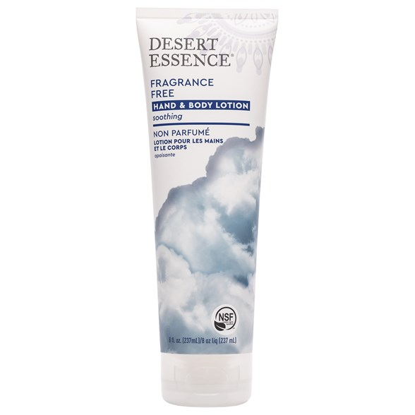 Desert Essence Fragrance Free Hand & Body Lotion, 237 ml
