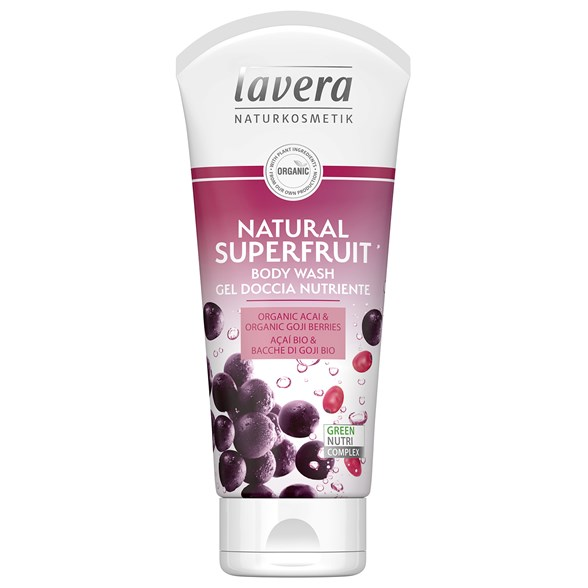 Lavera Natural Superfruit Body Wash, 200 ml