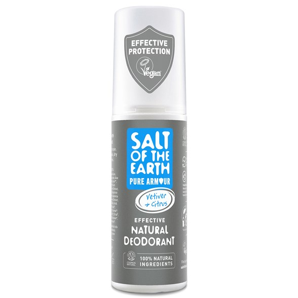Salt of the Earth Pure Armour Natural Deodorant Spray, 100 ml