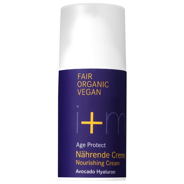 i+m Naturkosmetik Age Protect Nourishing Cream Avocado Hyaluron, 30 ml