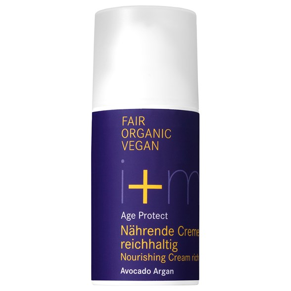 i+m Naturkosmetik Age Protect Nourishing Cream Rich Avocado Argan, 30 ml