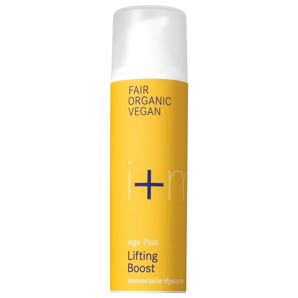 i+m Naturkosmetik Age Plus Lifting Boost Immortelle Hyaluron, 30 ml
