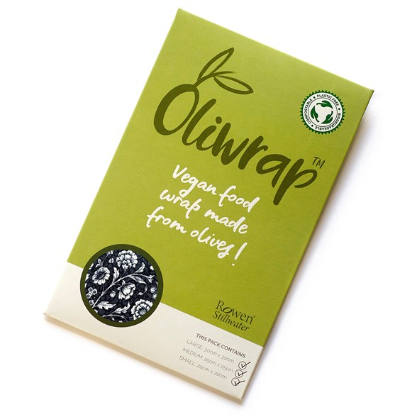 Rowen Stillwater Oliwrap Vegan Food Wrap Mixed Pack - Black Rose, 3 ark