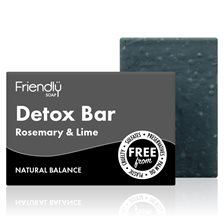 Friendly Soap Detox Bar Rosemary & Lime, 95 g