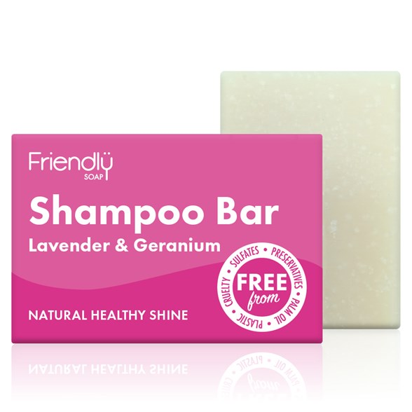 Friendly Soap Shampoo Bar Lavender & Geranium, 95 g