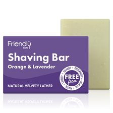 Friendly Soap Shaving Bar Orange & Lavender, 95 g