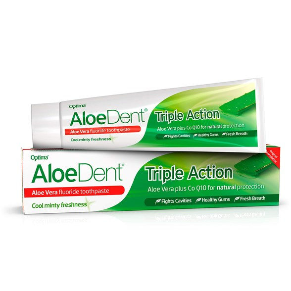 AloeDent Aloe Vera Triple Action Fluoride Toothpaste, 100 ml