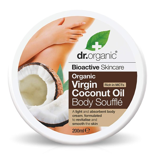 Dr. Organic Virgin Coconut Oil Body Soufflé, 200 ml