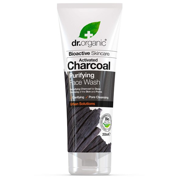 Dr. Organic Activated Charcoal Purifying Face Wash, 200 ml