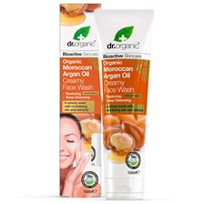 Dr. Organic Moroccan Argan Oil Creamy Face Wash, 150 ml