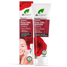 Dr. Organic Rose Otto Creamy Face Wash, 150 ml