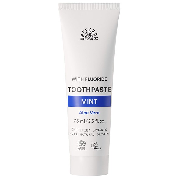 Urtekram Nordic Beauty Mint Toothpaste with Fluoride, 75 ml