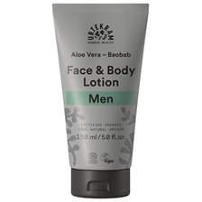 Urtekram Men Face & Body Lotion - Aloe Vera & Baobab, 150 ml