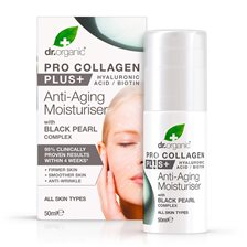 Dr. Organic Pro Collagen Plus Black Pearl Anti-Aging Moisturiser, 50 ml