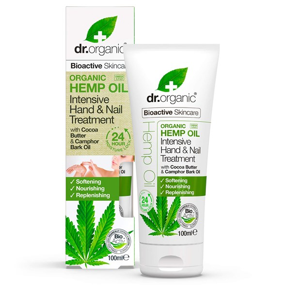 Dr. Organic Hemp Oil Intensive Hand & Nail Treatment, 100 ml