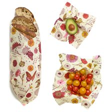 Bee's Wrap Veganskt Folie Assorted Set (S/M/L) - Meadow Magic, 3 st