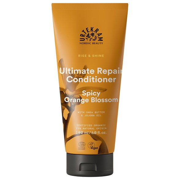 Urtekram Rise & Shine Ultimate Repair Conditioner - Spicy Orange Blossom, 180 ml