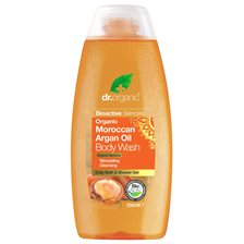 Dr. Organic Moroccan Argan Oil Body Wash, 250 ml