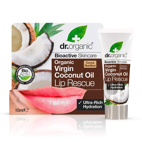 Dr. Organic Virgin Coconut Oil Lip Rescue, 10 ml