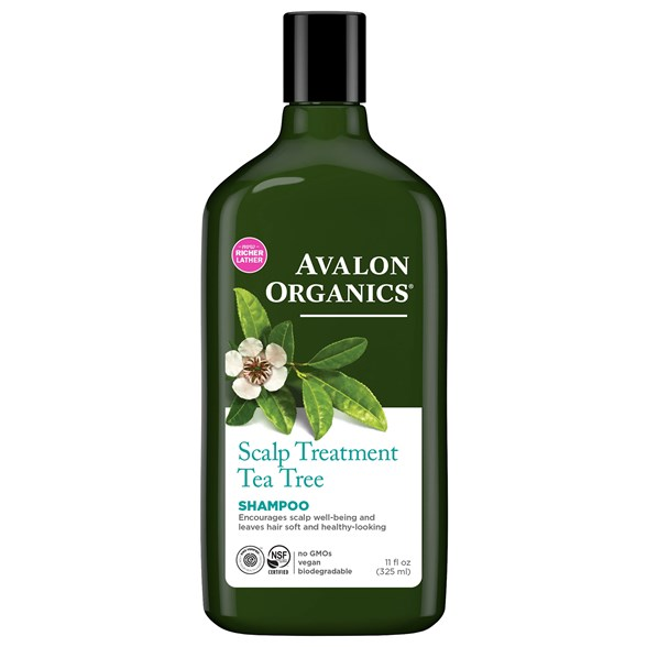 Avalon Organics Scalp Treatment Tea Tree Shampoo, 325 ml