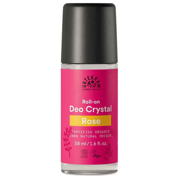 Urtekram Nordic Beauty Rose Deo Crystal Roll-on, 50 ml