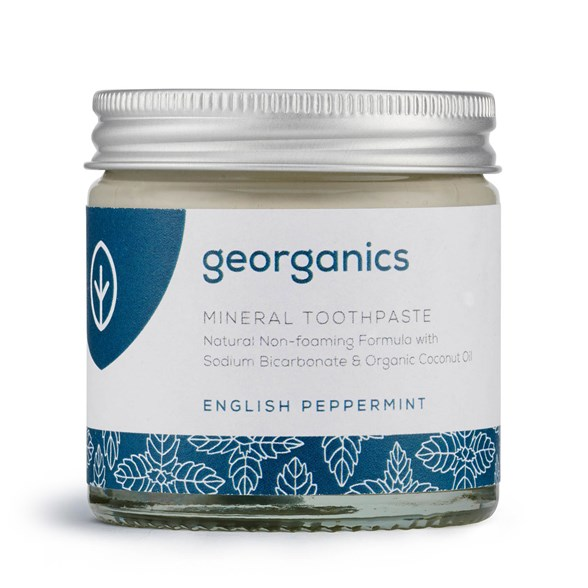 Georganics Naturlig Tandkräm English Peppermint, 60 ml