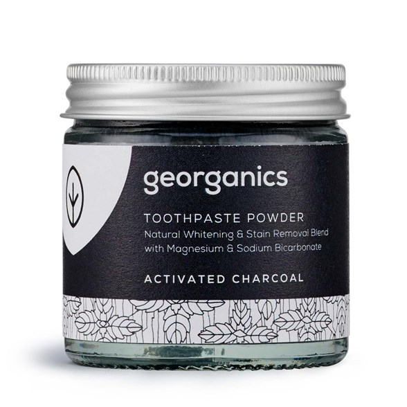 Georganics Naturligt Tandblekningspulver Activated Charcoal, 60 ml