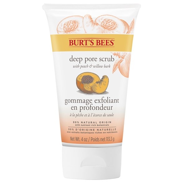 Burt's Bees Peach & Willow Bark Deep Pore Scrub, 110 g