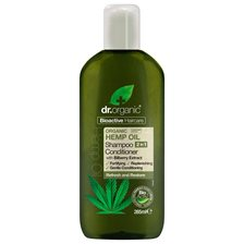 Dr. Organic Hemp Oil 2-in-1 Shampoo & Conditioner, 265 ml