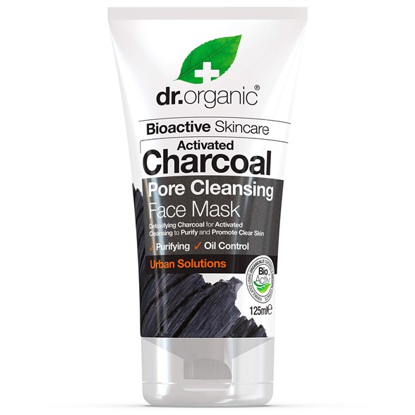 Dr. Organic Activated Charcoal Pore Cleansing Face Mask, 125 ml