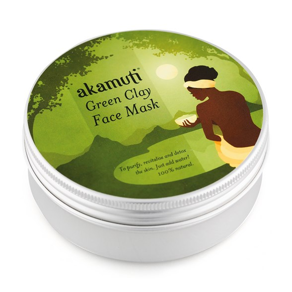 Akamuti Green Clay Face Mask, 100 g