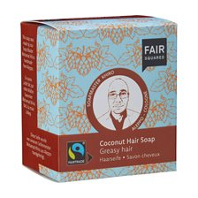 Fair Squared Coconut Hair Soap Greasy Hair, 2 x 80 g