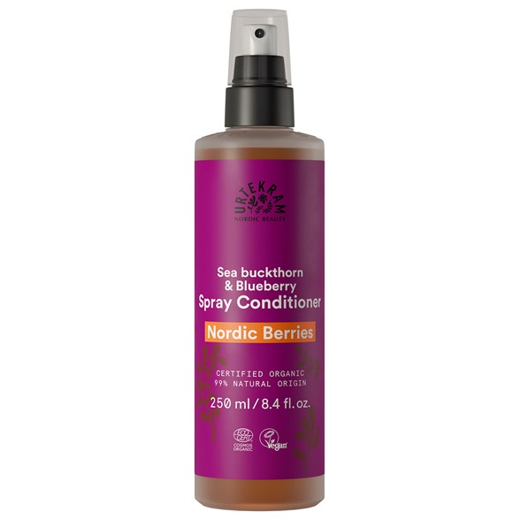 Urtekram Nordic Beauty Nordic Berries Spray Conditioner, 250 ml