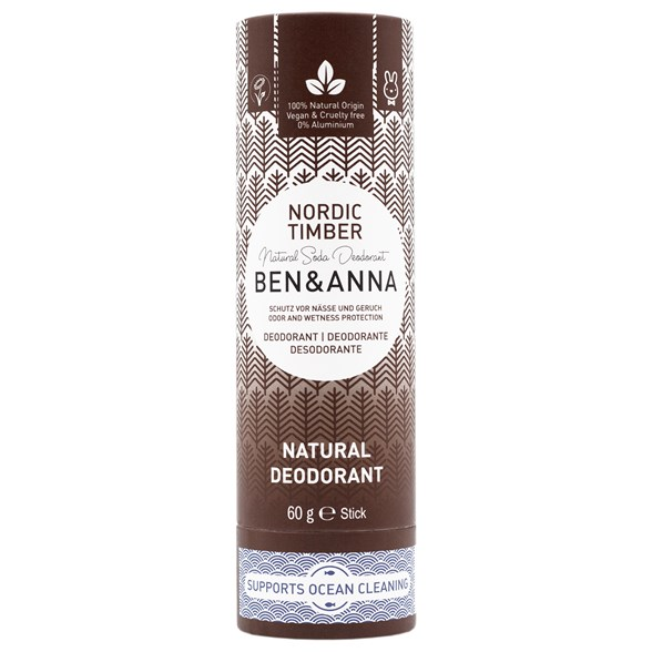 Ben & Anna Natural Soda Deo Stick Nordic Timber, 60 g